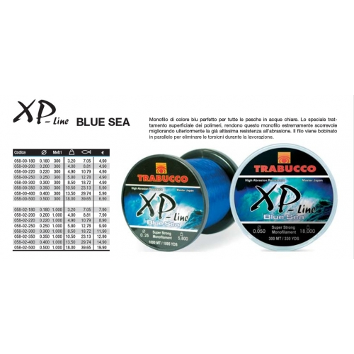 TRABUCCO XP-LINE BLUE SEA 300 MT