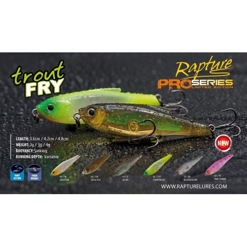 RAPTURE TROUT FRY 3 gr 4.2 cm