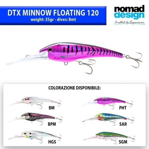 NOMAD TACKLE DTX MINNOW 120F